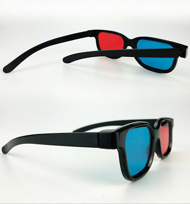 3D-BRILLE CYAN ANAGLYPH ROT BLAU Brillen Anaglyph Glasses Kino REAL DE