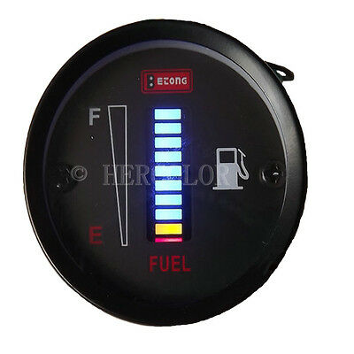 2015 Original 12V Fuel Level Gauge/Blue Led Fuel Meter Car/Motorcycle