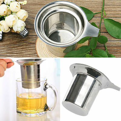 304 Stainless Steel Mesh Tea Infuser Cup Strainer Loose Tea Leaf Filter Sieve
