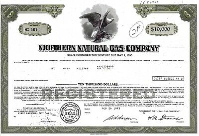 Northern Natural Gas Company, 1973,  9 3/4% Debenture due 1990 (10.000 $)