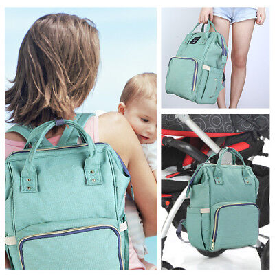 NEW Infant All in One Practical Baby Diaper Bag Separate Pocket 4 Colors Backbag