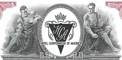 Hotel Corporation of America, New York, 1958 (100 Shares)