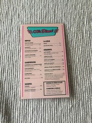 "18"" doll menu restaurant diner American Girl Our Generation toy"