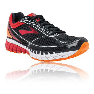 Brooks Mens Aduro 4 Running Sports Shoes Trainers Sneakers Black Red Lightweight