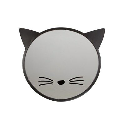Black Cat Mirror Whiskers Ears Glass Fun Wall Hanging Image Feline Novelty