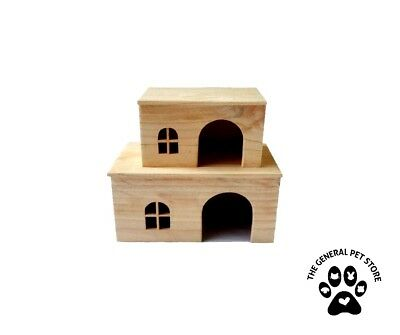 Wooden Small animal hideaway House Tunnel Bridge Rabbit Guinea pig toy Ferret