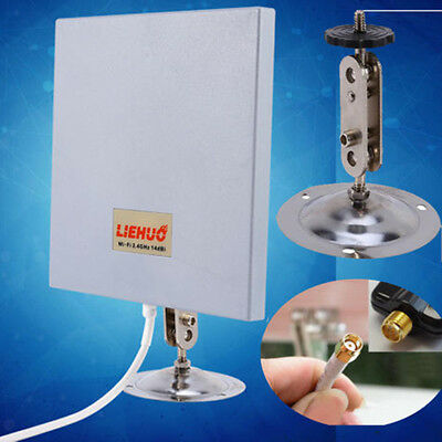 2.4GHz 14dB Wifi Wlan Wireless Outdoor Panel Antenna SMA Richtantenne Router @