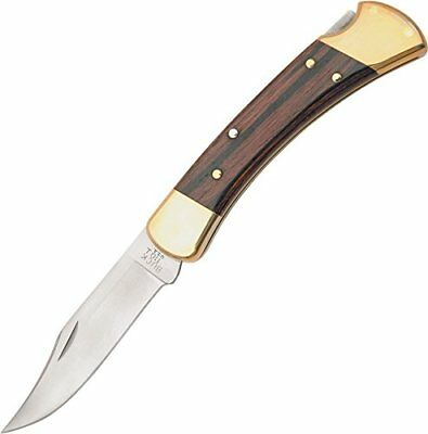 Buck Knives 110 Famous Folding Hunter Knife with Genuine Leather Sheath - TOP