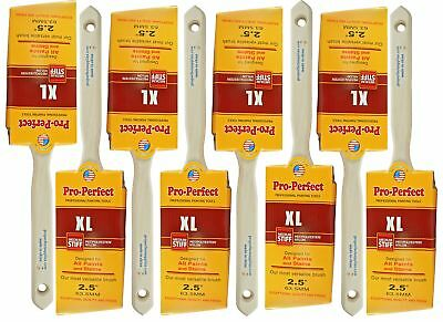 """8 PACK 2-1/2"""" Angle Sash PRO PERFECT PAINT BRUSH LOT.. Includes 8 Each 2-1/2"""""""