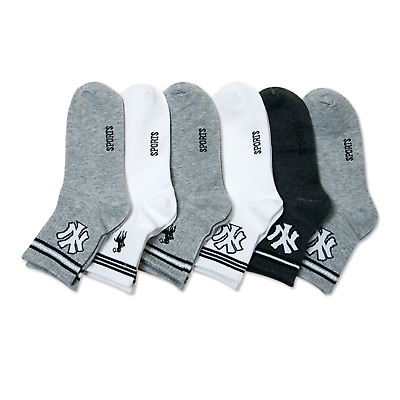 5 Pairs Sihyeon Mens New Casual Ankle Crew Socks Dress Business Soft Cotton 7-9