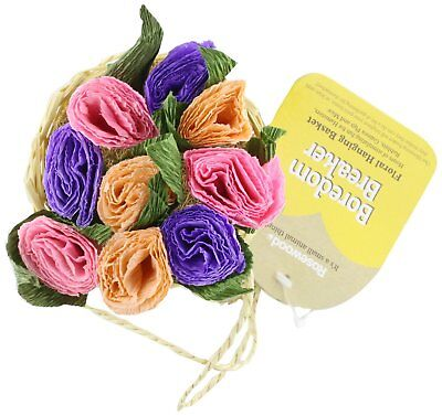 Rosewood Boredom Breaker Flower Hanging Basket Chew Toy For Rabbit Guinea Pig