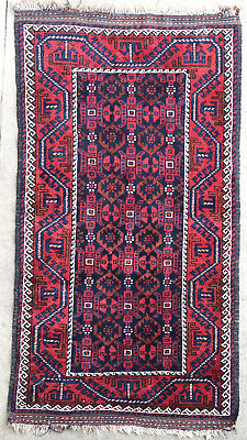 Tapis ancien rug oriental orient tribal ethnique Afghan Afghanistan Baluch 1950