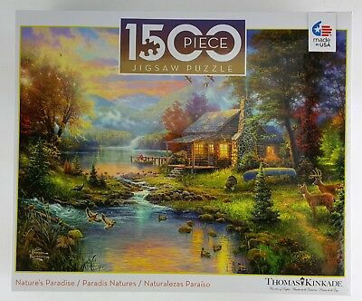 CEACO® 1500pc THOMAS KINKADE • NATURE'S PARADISE  PUZZLE Jig Saw NEW IN BOX