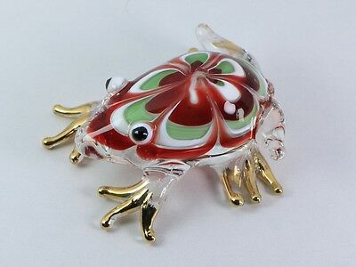 Frog Reptile Hand Blown Glass Figurine Animal Christmas Xmas Gift New Year Gift