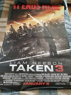"Taken 3 Movie Poster 2  27""×40"" Liam Neeson"