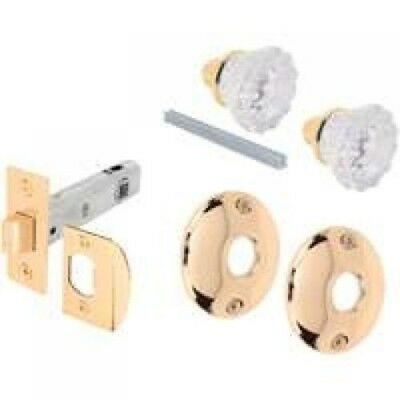 Prime Line E2317 Glass Knob Passage Door Latch Set with Latch Bolt