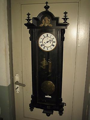 Antique 2 Weight Vienna Regulator Wall Clock