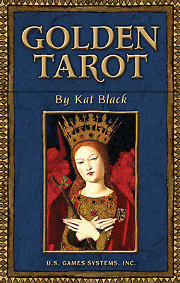 Golden Tarot NEW IN BOX Kat Black Deluxe Boxed Gilt Deck 78 Cards with Booklet