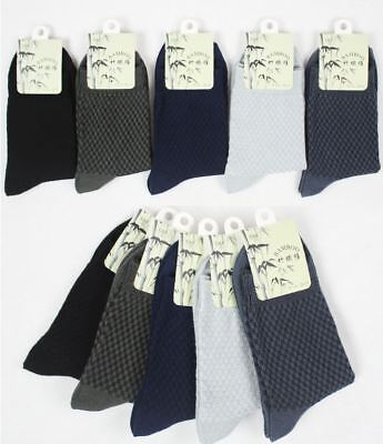 5 to 10 Pairs Soft Comfortable Breathable Mens Sports Bamboo Socks-US SELLER