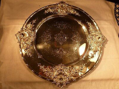 """Spectacular J E Caldwell Sterling Silver 10 1/2"""" Plate Platter Tray Redlich & Co"""