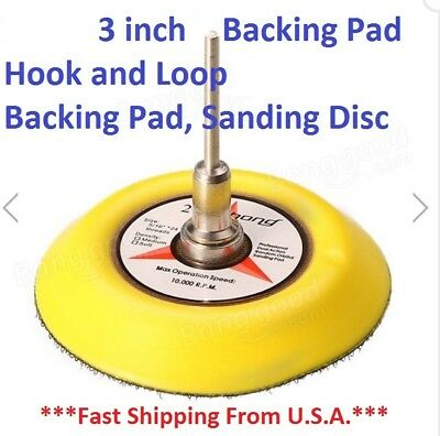 3 inch Backing Pad Hook and Loop Backing Pad, Sanding Disc