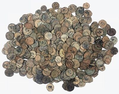 Lot Of 10 Ancient Roman Coins DESERT PATINA! 11mm - 23mm PREMIUM QUALITY!!!
