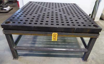 """5' x 5' ACORN Type Welding Table 1-3/4"""" Square Holes, Stand (30018)"""