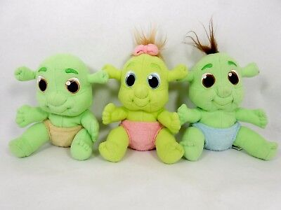 Shrek The Third Plush Baby Triplets Set With Cloth Diapers 6""