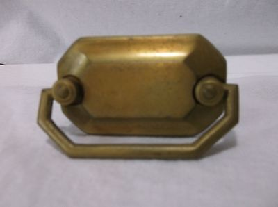Vintage Antique Brass Plates Drawer Pull Knob Handle Office File Cabinet Mailbox