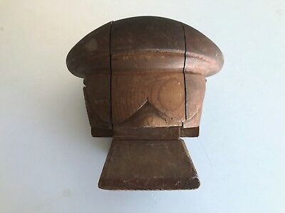 Rare Antique Hat Block, Vintage Millinery, 5 Puzzle Piece, Early 1900s