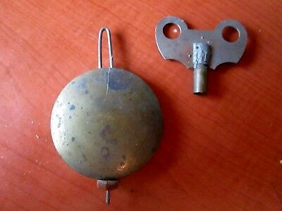 "Antique 2"" Adjustable Pendulum With Key for Banjo, Ogee Bracket Clock (146D)"