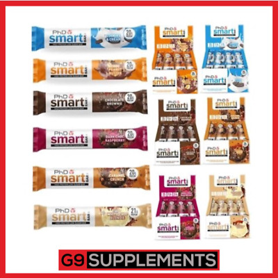 PHD Smart Bars MIX BARS HIGH PROTEIN HALF & HALF BOXES & MIXED BOX 6/12x60g