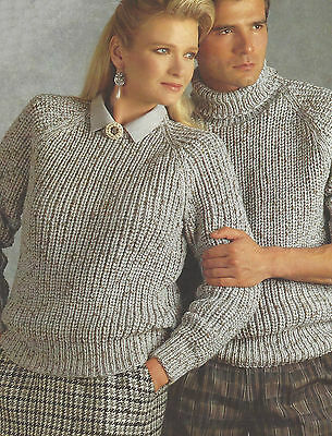 Ladies Chunky Knitting Patterns Easy Knit Sweaters Crew Polo Mens