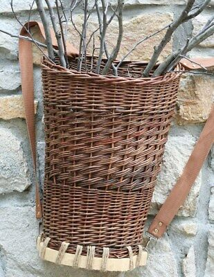Victorian Trading Co Willow Foraging Basket Backpack