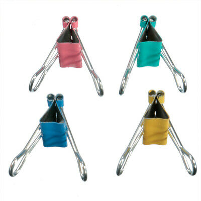 Portable Firm Metal Binder Clips Document Clips Paper Holder Office Stationery