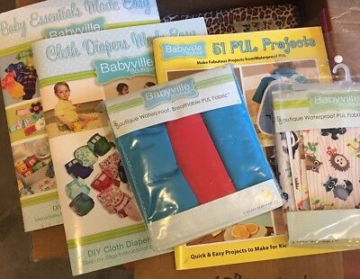 PUL Craft & Diaper Lot - Books and Material Lot