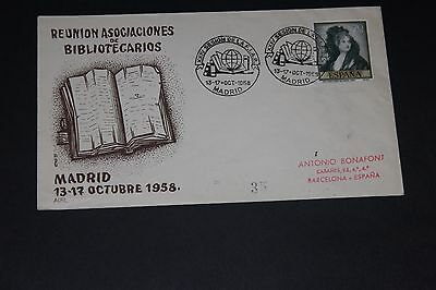 Spain 1958 Bible Illustrated First Day Cover