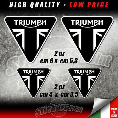 4 adesivi TRIUMPH - moto stickers daytona 675 speed street triple tiger KTR002