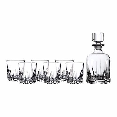 New Royal Doulton Mode 7 Pce Decanter Set +Set Of 6 Tumblers Lowest Price!