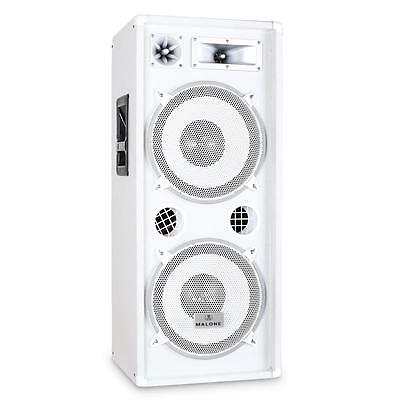 """Malone 3-Way Dj Pa Speaker 12"""" Double Bass Sub 1000W Max *free P&p Special Offer"""