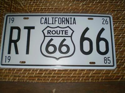 Route 66 California number plate sign pressed metal  man cave item  Free post