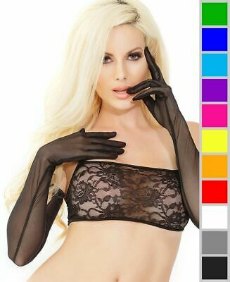 New Coquette 1890 Opera Length Mesh Gloves
