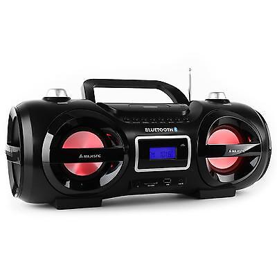 New Portable Hifi Stereo Mp3 Cd Fm Usb Bluetooth Ipod Iphone * Free P&p Uk Offer