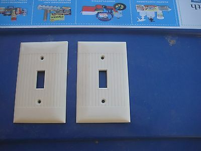 Vintage * SIERRA ELECTRIC * 1-Gang Toggle Switch Wall Plate Lot of 2
