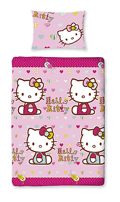 Parure housse de couette simple Hello Kitty