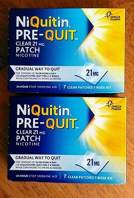 NiQuitin Pre-Quit patches 21mg ** ONLY £15.95 **