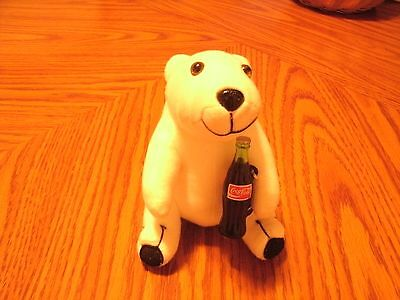 Vintage Coca Cola Polar Bear With Coke Bottle 7 Inch 1993 Tush Tag Attached