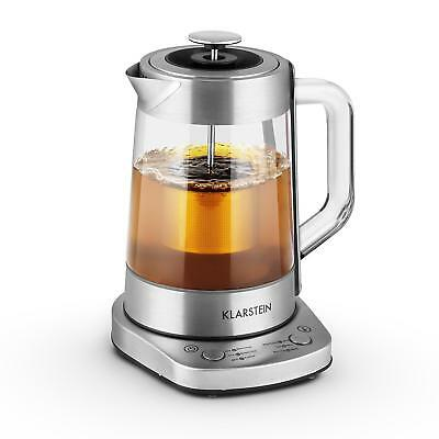 Electric Kettle Tea Water Teapot Cordless Glass Strainer Stainless Steel 1.5L