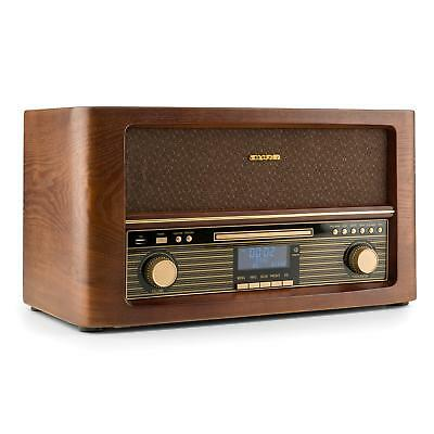 Retro Radio Music Stereo System Wireless Speaker Usb Cd Mp3 Player Remote Dab+