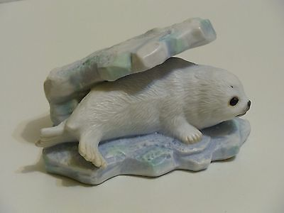 "Polar Expedition Fine Porcelain ""Baby Harp Seal"" floating on Ice Berg"